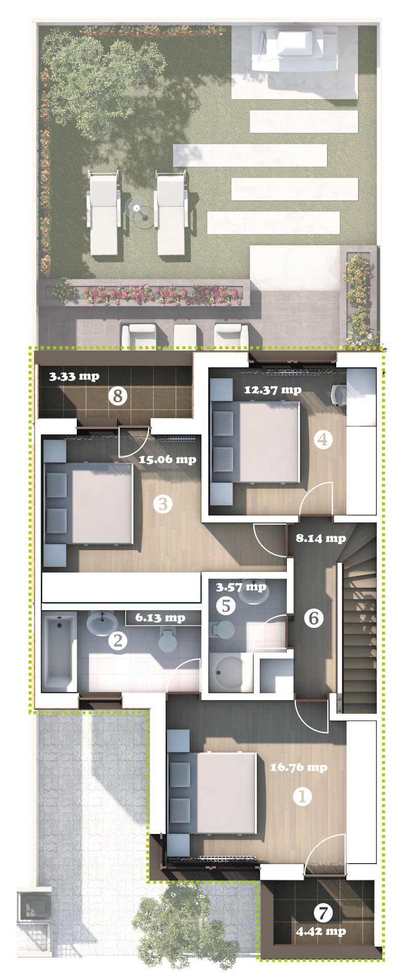 Ground Floor Plan House Type 1 City