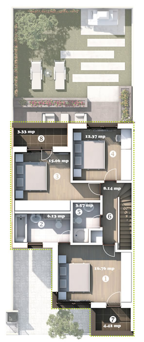 Plan Etaj Casa Tip 1 City Garden Pipera
